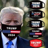 Máscara de algodão preto 2024 EUA Presidente Eleitoral fornece à prova de poeira Respirável cobertura de boca lavável Trump máscaras para adultos