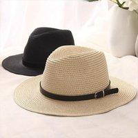 [OZYC] Sombreros Kobiety Letni kapelusz Mężczyźni Klasyczny Czarny Girdle Panama Sunhats Jazz Beach Kapelusze dla Chapeau de Paille Femme
