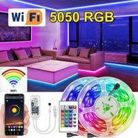 Tiras WiFi RGB LED Tira Luz Usb Luces Tape Diodo Fita Bluetooth-compatible Adaptador para sala de desktop TV Kitch