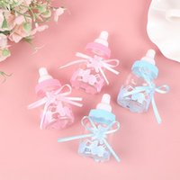 Gift Wrap 2Pcs Baby Shower Box Bottle Baptism Christening Brithday Party Favors Storage Hundred Days Banquet Candy