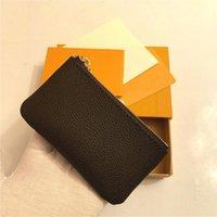 كيس الحقيبة دامييه الجلود يحمل جودة عالية مصمم الكلاسيكية الشهيرة المرأة مفتاح حامل عملة محفظة جلد صغير محافظ مفتاح الصندوق الأصلي