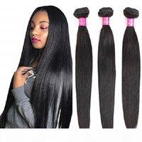 برازيلي الشعر البشري مستقيم حزم مستقيم 8-40 بوصة 10a الصف 100٪ غير المجهزة عذراء الشعر حزم نسج ملحقات اللون الطبيعي