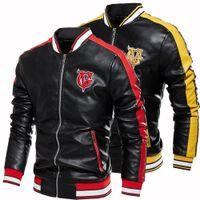 Дизайнеры мужские куртки пальто одежда плюс бархат из кожи кожаной кожи осень и зима теплая верхняя одежда