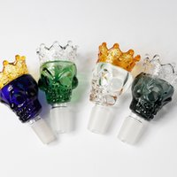Hookah Accessories Bong Dab Rig Silicone Glass Cigarette Accessories Color Crown Shaped Cigarette Pot Filter Bowl Glass Water Pipe