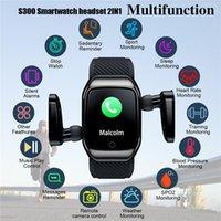 S300 Smart Watchs Casque 2 en 1 Récompense cardiaque Fitness Tracker Pression artérielle IP68 Eau Proof GPS Sports Bluetooth PK DZ09 Android