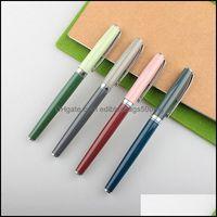 Fountain Supplies School & Industrialfountain Pens Wingsung 9139 Metal Pen Matte Barrel Morandi Season Color Iridium Fine Nib 0.38Mm Ink Off