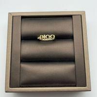 Mode Gold Brief Liebe Ringe Bague mit Diamant für Dame Frauen Party Hochzeit Liebhaber Geschenk Engagement Schmuck mit Box Freies Verschiffen PS4246