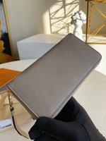 Zippy Wallet Designer Womens Bicolor Vernis 꽃 가죽 카드 홀더 주최자 긴 지갑 코인 지갑 키 주머니 Pochette