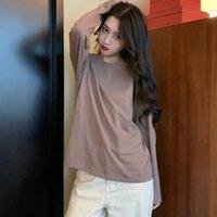 Women's T-Shirt Winter Casual T-shirts Women Harajuku Kawaii Clothes Loose Long Sleeve Tee Tops Korean Basic Vintage Womens Tshirt Drop