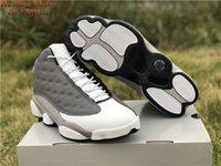 Jumpman 13 Atmosfer Gri Basketbol Ayakkabıları Erkek XIII Açık Spor Sneakers Gemi ile Kutusu Boyutu US7-12