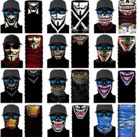 Half face series Skull Headband autumn and winter party masks protection magic scarf warm sports riding elastic Halloween mask ZC438-D