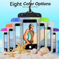 Universal Saco Luminoso Saco Impermeável Saco PVC PVC Protetora Bolsa de Telefone Bolsa Com Bússola Para iphone 11 12 Mergulho Natação Para Telefone Inteligente