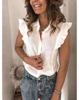 Camicette da donna Camicie Camicetta Camicetta Blouse Donne Camicia femminile Femminile Elegante Senza Maniche Fashion Woman 2021 Summer Solid Ladies Top