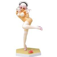 Japón Sexy Girl Figure Super Sonic 16 cm Blanco Sueño de traje de baño Super Sonico Especial PVC Figura de acción Colección Modelo Muñeca Regalo Q0722