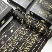 10 teile / satz Gold Washi Tape Vintage Masking Tape Nette dekorative Klebstoffaufkleber Scrapbooking Tagebuch Schreibwaren 2016 JKXB2103