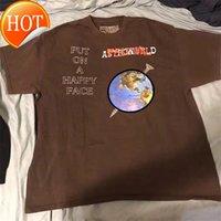 Travis Scott Astoworld 축제 해피 얼굴 T-Shir 남성 여성 Astroworld 티셔츠