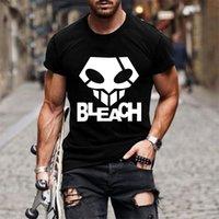 Men's T-Shirts man-made bleach t-shirt, short-sleeve shirt, solid, casual, large size, harajuku clothes, hip hop, bleach, men's t-shirts, 7IAW