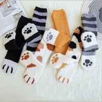 Im Winter sind Coral Cashmere-verdickte Haufen-Ring-Socken, weibliche Katzenklaue-Socken, Wärmerohrsocken mit hoher Elastizität 181 T2
