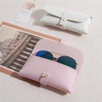 스토리지 가방 가죽 안경 가방 Protable 선글라스 케이스 유니섹스 패션 남성 여성 근시 파우치 안경 케이스 상자 액세서리