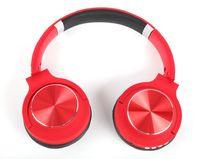 سماعات بلوتوث لاسلكية للكمبيوتر الشخصي لعبة صندوق الرصيف HIFI Headset Metal Laser إلكتروني دعم بطاقة FM Pluggable