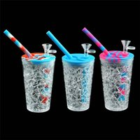 Drink Cup Hand Pipe Portable Hookah 157 mm*68 mm Water Smoking Pipes Dab Oil Rig Accessories Tobacco Bong MOQ 1 Piece