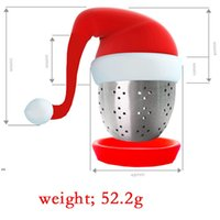 Silicone Christmas Hat Tea Infuser Filter Tools Diffuser Shape Teas Bag Maker Infusers Strainer Gift Creative Design Temperature DWE8695