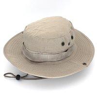 Geniş Ağız Şapka Kova Şapka Safari Boonie Erkekler Panama Balıkçılık Pamuk Açık Unisex Kadınlar Yaz Avcılık Bob Güneş Koruma Ordusu