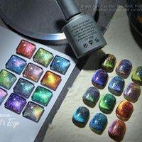 Gel d'ongles Sparkle Cat Eye Diamant Art Polonais Lumineux UV Glitter Cristal Magnetic Soake Off Vernis W3Q7