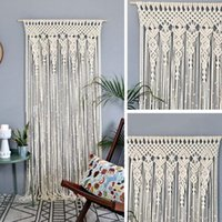 Tapestries Wall Hanging Curtain Boho Door Window Woven Tapestry Decor Home Ornament For Bedroom Wedding Party