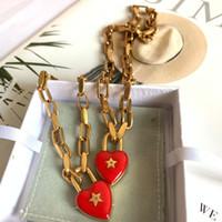 Collier de design Womendijia / Dejia Collier étoile en forme de coeur Femme Net Filet Rouge Love Caoutchouc Drop Pendentif Femme's Bracelet