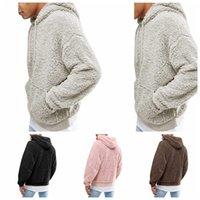Men Sherpa Hooded 4 Colors Full Sleeve Hood Pullover Hoodies Sweatshirt Hip Hop Street Fleece Hoodie OOA6011OKMY