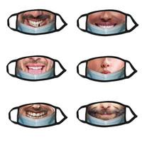 Designer Fashion Face Mask Pratico scherzo stampato divertente espressione maschera adulto a prova di freddo respirabile respirabile respirabile