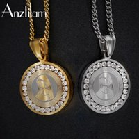 Pendant Necklaces High-Quality Full Crystal CZ Cubic Zirconia Virgin Mary Stainless Steel Cuban Long Chain Goth Jewelry