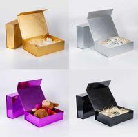 Caixas de embalagem High End Plain Gift Caixa de brinquedo de papelão espessa Dobrável Fechamento Magnético Rígido Embalagem para roupas íntimas Cosméticos SN5318 V2TO