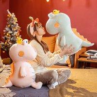40cm Cartoon Crocodile Plush Toy Stuffed Animal Cute Plushie Crocodile With Yellow Bird Pillow Doll Toys for Girls Kids Gifts