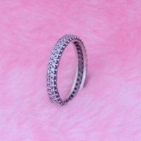 Inspiração de prata em anel com clear cz 100% 925 Anéis de prata esterlina DIY fazendo ajustes para jóias de Pandora 2016 novo presente de Natal