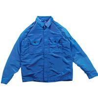 topstoney 2020fw konng gonng primavera y otoño nuevo chaqueta de hombres de metal nylon tecnología colorida tela abrigo de solapa chaqueta de cremallera fresca