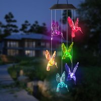 Pool & Accessories Swim Solar LED Wind Chime Transparent Hummingbird Waterproof For Garden Party Decor Patio Yard Lawn Dropship#0712