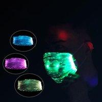 أقنعة حزب LED ملون متوهجة الألياف القابلة لإعادة الشحن قناع البصرية ملهى ليلي لعبة مقطع كهربائي لعبة القماش عيد الميلاد