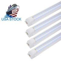 8 피트 LED 샵 라이트 픽스처, T8 통합 튜브 조명, 6500K 찬 Whit, V 모양 연결기구, 높은 출력 클리어 커버