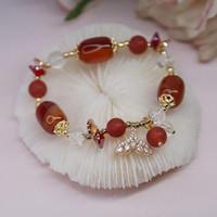 Bangle Fishtail Fashion Agate Natural Stone Bracelets Women Jewelry