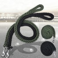 Dog Collars & Leashes 110cm Strong Heavy Duty Leash Thick Nylon Round Rope Pet For Medium Large Dogs Golden Retriever Pitbull Big Lead