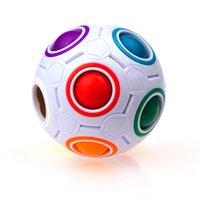Creative Magic Cube Ball AntiStress Rainbow Футбол Puzzle Montessori Детские игрушки для детей Стресс Редивер Тойная вечеринка Подарок LLA358
