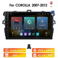 Ossuret 2din 9inch 2.5D Android 4G WIFI Car Radio Multimedia Player For Toyota Corolla 2007-2011 Navigation gps cam dvr swc obd2