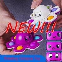 Nouveaux jouets Fidget Toys Octopus Finerts Spinner Peluche Poussée Bubble Dice Anti-irritabilité Ventilation Artefact Fingertiparty Sensory Sensory Autisme a besoin d'anxiété Selfiet jouet