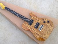 Small double swing electric guitar map wood color rose wood \ ebony fingerboard