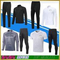 2020 2021 الكبار بدلة تدريب رمادي بدلة رياضية لكرة القدم Survetement سترة كرة القدم 20 21 أسود كامل البريدي جاكيتات قميص بولو