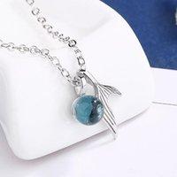 Pendentif Colliers Blue Mermaid Déchirons Clavicule Chaîne Simple Collier de style pour Femmes Pal Party Bijoux