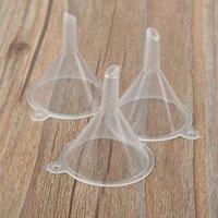 Embudo de plástico mini pequeños embudos para perfume líquido líquido aceite de llenado de aceite vacío herramienta de embalaje biselado plano 2 estilos uso
