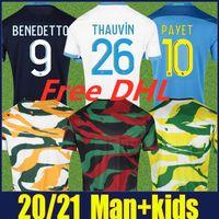 2020 2021 Olympique de Marseille Sooocer Jerseys Kamara Benedetto Camisas Marseille Payet Thauvin Futebol Jerseys Maillot Collector Om África